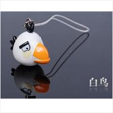 AB006 White Angry Bird Mobile Phone Chain