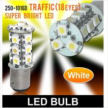 SUPER WHITE T25 18 LED Brake Light [250-1016D White]