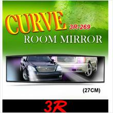 3R Anti-Glare 3D 27Cm Wide Curve Room Rear Mirror Japan Made [3R-269]