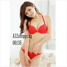 00135Korea diamond T-back underwear Bra sets