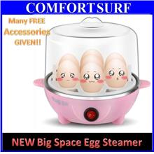 NEW Egg Steamer Boiler Master 2 Layers Big Space wf FREE Accessories