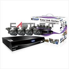 Kguard CCTV Combo 8 CH H.264 DVR/4 X 600TVL Sharp LED Cam/Without HDD