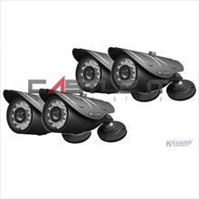 Kguard CCTV Camera Kit Outdoor 4PCS X 24IR LED CamSharp (CW214HPK4)