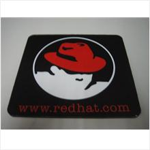 RARE !! ORIGINAL BLACK WWW.REDHAT.COM LINUX HIGH QUALITY MOUSE PAD