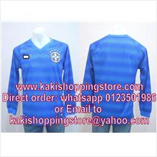 Brazil Away World Cup 2014 Long Sleeve Jersi/Jersey-Whatapp 0123051986