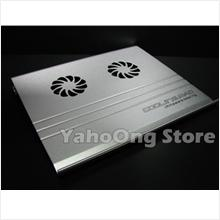 KS-A05 Full Aluminum Notebook PC Cooling Pad W/ Dual Fan , USB 2.0 Hub
