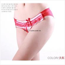 Sexy G-string Panty Lace T trousers Underwear T-string 03921-Red