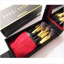 Bobbi Brown limited edition wool makeup brush set+cosmetic case