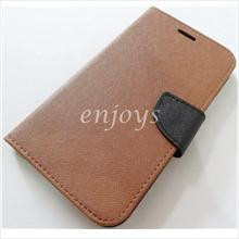 MERCURY Fancy Diary Case Pouch Samsung Galaxy Mega 5.8 I9152 ~Brown