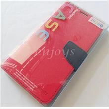 MERCURY Fancy Diary Book Case Pouch Samsung Galaxy Mega 6.3 i9205 ~Red