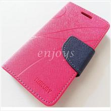 MERCURY Fancy Diary Book Case Cover Pouch Sony Xperia M C1905 ~Hotpink
