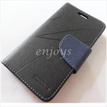 MERCURY Fancy Diary Book Case Cover Pouch Lenovo A369 A369i ~BLACK