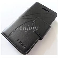 MERCURY Leather Diary Book Case Pouch Samsung Galaxy W I8150 ~BLACK