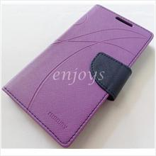 MERCURY Fancy Diary Book Case Pouch Sony Xperia C / C2305 S39h ~Purple