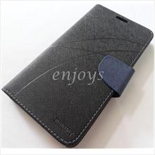 MERCURY Fancy Diary Book Case Cover Pouch Lenovo S930 ~Black