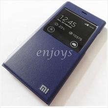 Premium BLUE S View Book Flip Cover Case Pouch for Xiaomi MI-3 Mi3