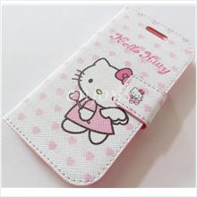 Hello Kitty Angel Soft Case Book Cover Samsung Galaxy Core I8262 ~PINK