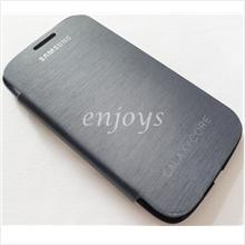 Enjoys: Chrome BLUE Flip Battery Cover Pouch Samsung Galaxy Core I8262