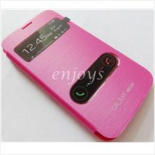 Premium Chrome PINK S View Flip Cover Samsung Galaxy Mega 5.8 I9152