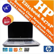 HP Elitebook 8470P Core i5 + SSD Professional Business Notebook Deal!!