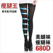 680D Varicose Veins Thick Type Compression Stockings (Black)