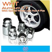 WHT T-7 Aluminium Billet Special Wheel Lock Nut 4 Pcs Made In Japan
