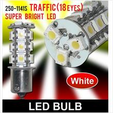 SUPER WHITE T25 18 LED Reverse/Signal Light [250-1141S White]