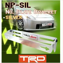 RM1 TRD SPORT Aerodynamic Adjustable Racing Car Plate Bracket [Silver]