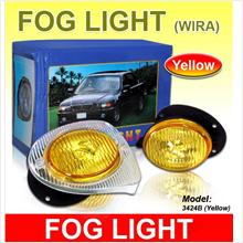 WIRA/SATRIA/PUTRA Yellow Fog Lamp/ Spot Light Per Pair [3424B]