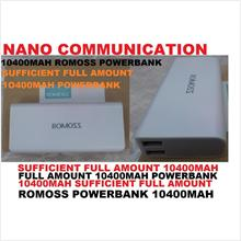 BRAND ROMOSS...sufficient full amount 10400MAH ROMOSS POWERBANK