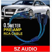 SZ AUDIO 0.5 Meter High Sound Quality RCA Cable for Pre-Amp/ Equalizer