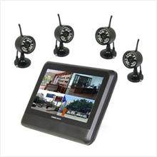4 Digital Wireless Cameras + 7 LCD Monitor/Recorder (WL-24DUSBIR4A) !