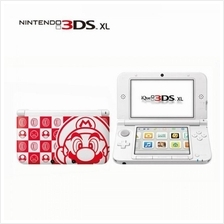 3DS XL White Mario Edition with New Super Mario Bros. 2 and Pro Evolut