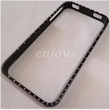 Enjoys: CROSSLINE Diamond Bling Metal Bumper Frame Case iPhone 4 4S ~B