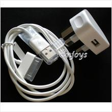 Enjoys: AP Travel Charger+ USB Cable Apple iPhone 4 4S 3G 3GS ~3Pin