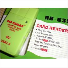 Enjoys: RB-539 Memory Card Reader ~M2 MS TF MMC Mini Micro SD ~Green
