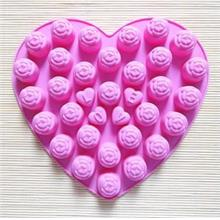 Silicone 30 Roses Jelly / Puding / Chocolate Mold
