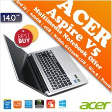 Acer Aspire V5 Core i5 Multi-Touch Multimedia Notebook Hari Raya Offer