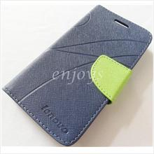 MERCURY Fancy Diary Book Case Cover Pouch Lenovo IdeaPhone S750 ~Navy