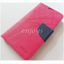 MERCURY Fancy Diary Book Case Cover Pouch Lenovo S920 ~Hotpink