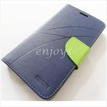 MERCURY Fancy Diary Book Case Cover Pouch Lenovo IdeaPhone A850 ~Navy