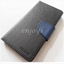 MERCURY Fancy Diary Book Case Pouch Samsung Galaxy S5 / G900F ~BLACK