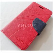MERCURY Fancy Diary Book Case Samsung Galaxy Grand Quattro I8552 ~RED