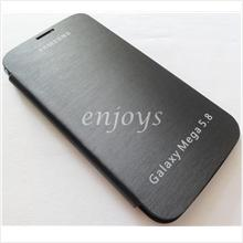Chrome BLACK Flip Battery Cover Pouch Samsung Galaxy Mega 5.8 i9152