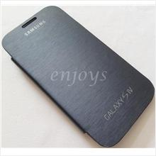 Enjoys: Chrome BLUE Flip Battery Cover Pouch Samsung I9500 Galaxy S4