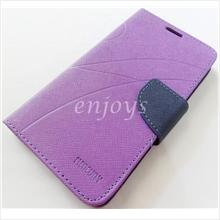 MERCURY Fancy Diary Book Case Cover Pouch Lenovo A850 ~Purple