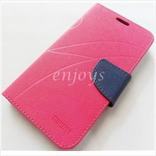 MERCURY Fancy Diary Book Case Cover Lenovo A850+ / A850 Plus ~Hotpink