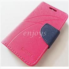 MERCURY Fancy Diary Book Case Cover Pouch Lenovo A316 ~Hotpink