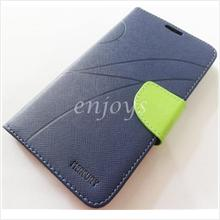 MERCURY Fancy Diary Book Case Cover Pouch Lenovo S920 ~Navy