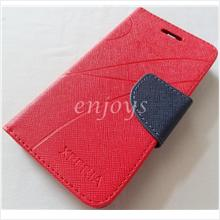 MERCURY Fancy Diary Book Case Pouch Sony Xperia L /S36h ~Red /Navy